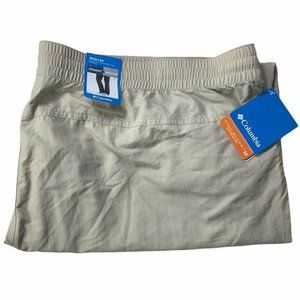 Columbia Omni Shade Womens Cargo Pants Beige Flap